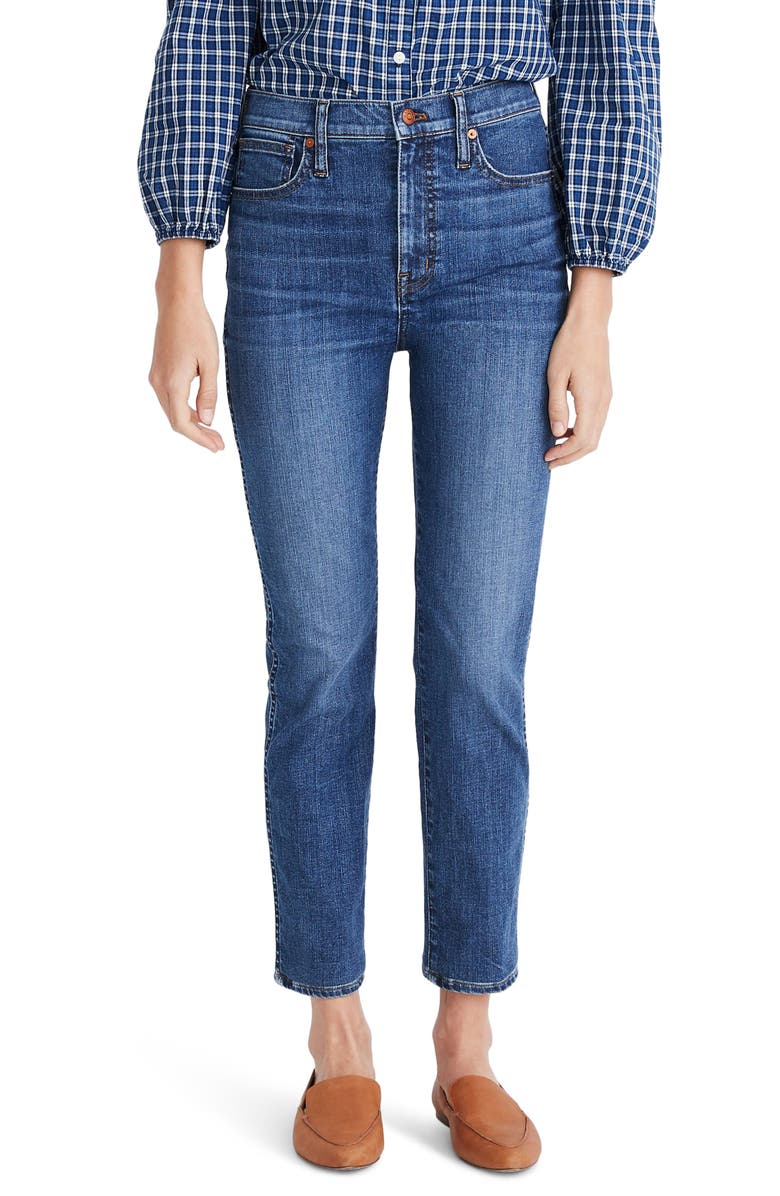 MADEWELL Stovepipe Jeans, Main, color, 400
