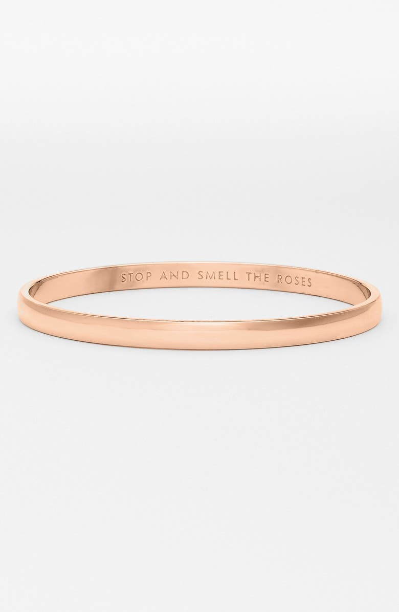 KATE SPADE NEW YORK stop and smell the roses bangle, Main, color, ROSE GOLD
