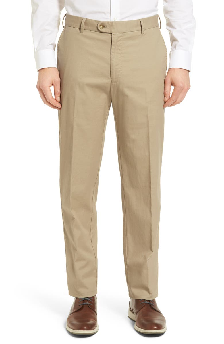 PETER MILLAR Twill Pants, Main, color, KHAKI