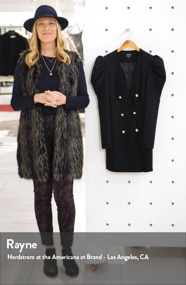 Britt Long Sleeve Plunge Blazer Dress, sales video thumbnail