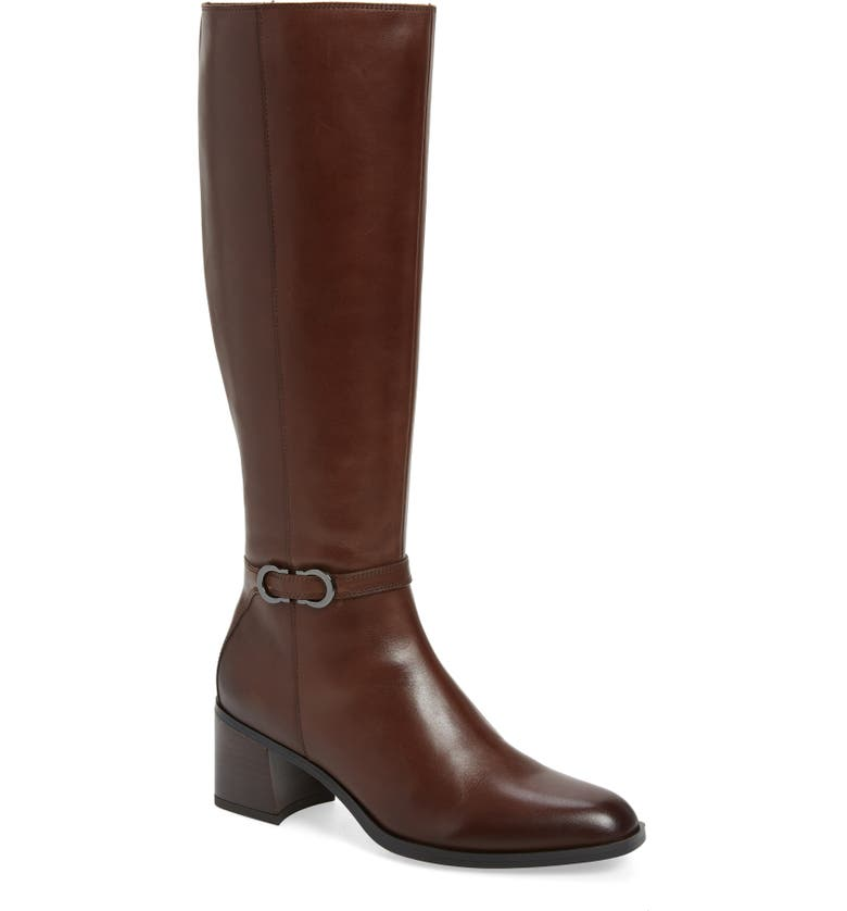 NATURALIZER Sterling Knee High Boot, Main, color, CHOCOLATE LEATHER