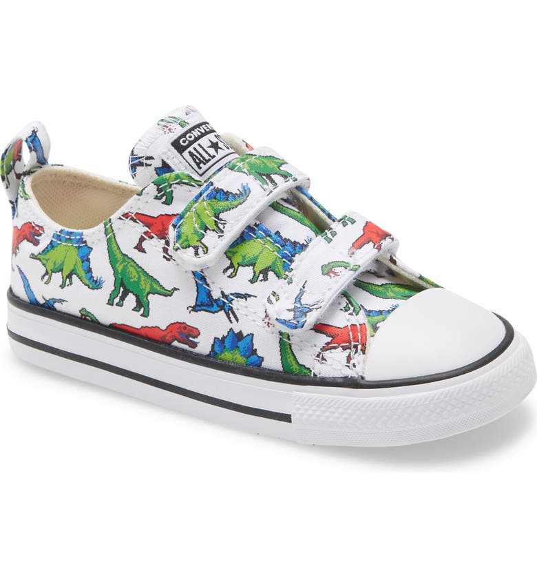 CONVERSE Chuck Taylor<sup>®</sup> All Star<sup>®</sup> 2V Dino Sneaker, Main, color, WHITE/GREEN/UNI
