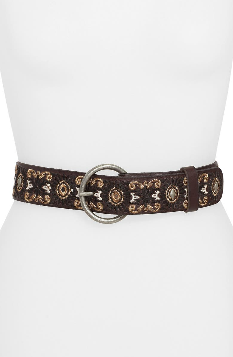 LUCKY BRAND Embroidered Floral Belt, Main, color, 200