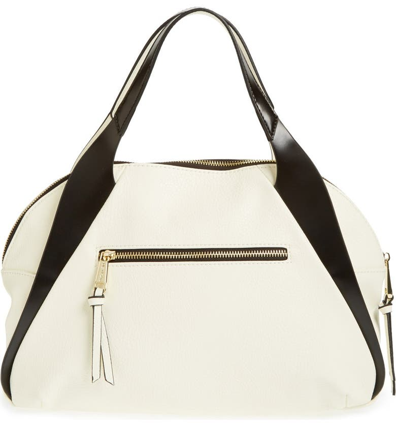 POVERTY FLATS BY RIAN 'Aero' Faux Leather Satchel, Main, color, 100