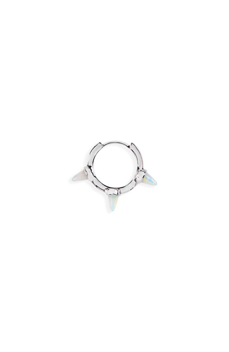MARIA TASH Mariah Tash 8mm Triple Short Spike Clicker, Main, color, WHITE GOLD