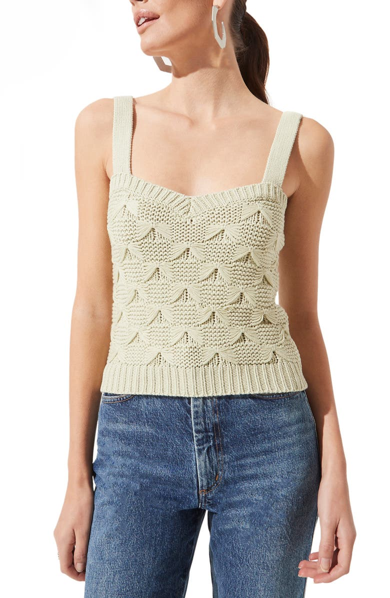 ASTR THE LABEL Sweater Tank, Main, color, PALE GREEN