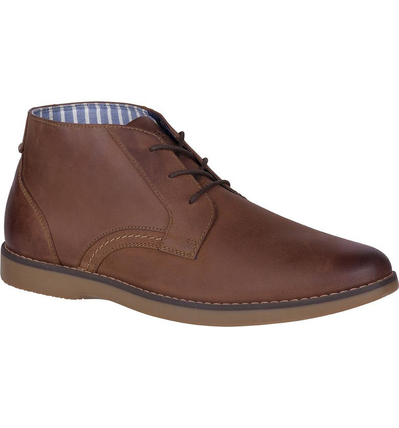 SPERRY Newman Leather Chukka Boot, Main, color, BROWN