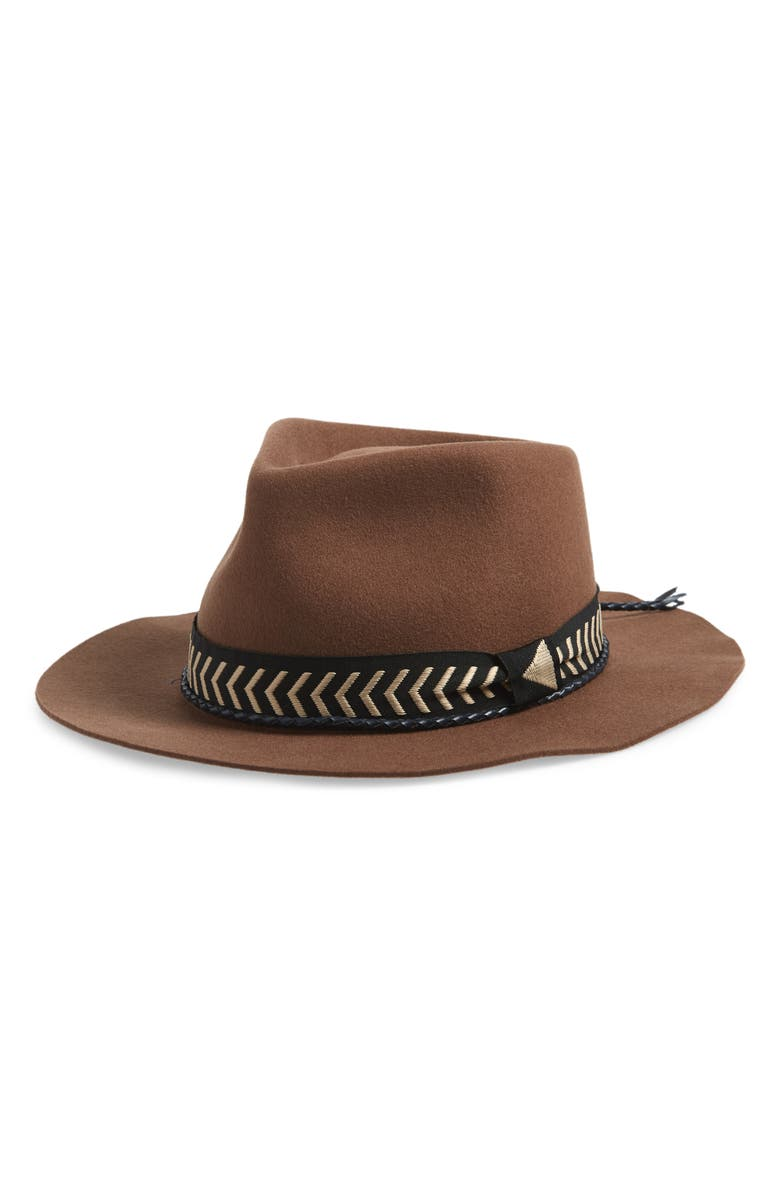 BRIXTON Venice Felted Wool Fedora, Main, color, 200