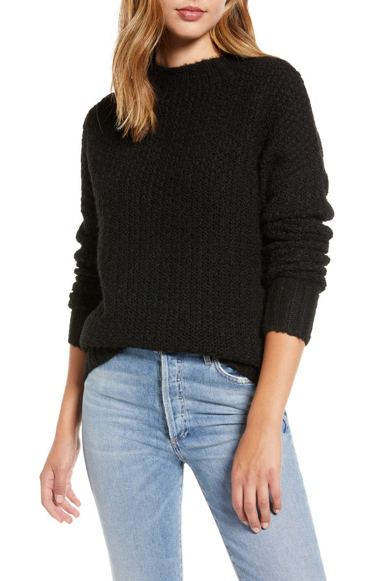 CASLON<SUP>®</SUP> Chunky Knit Sweater, Main, color, 001