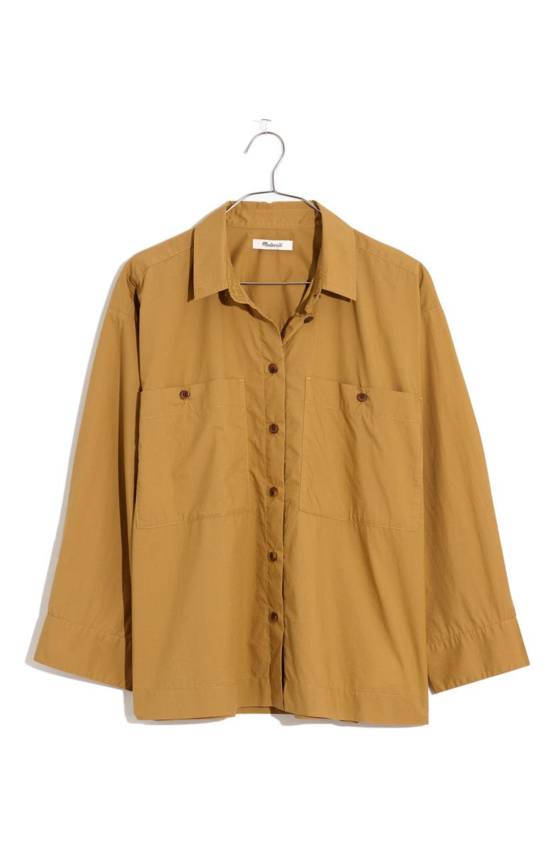 MADEWELL Boxy Workwear Shirt, Main, color, OLIVE SURPLUS