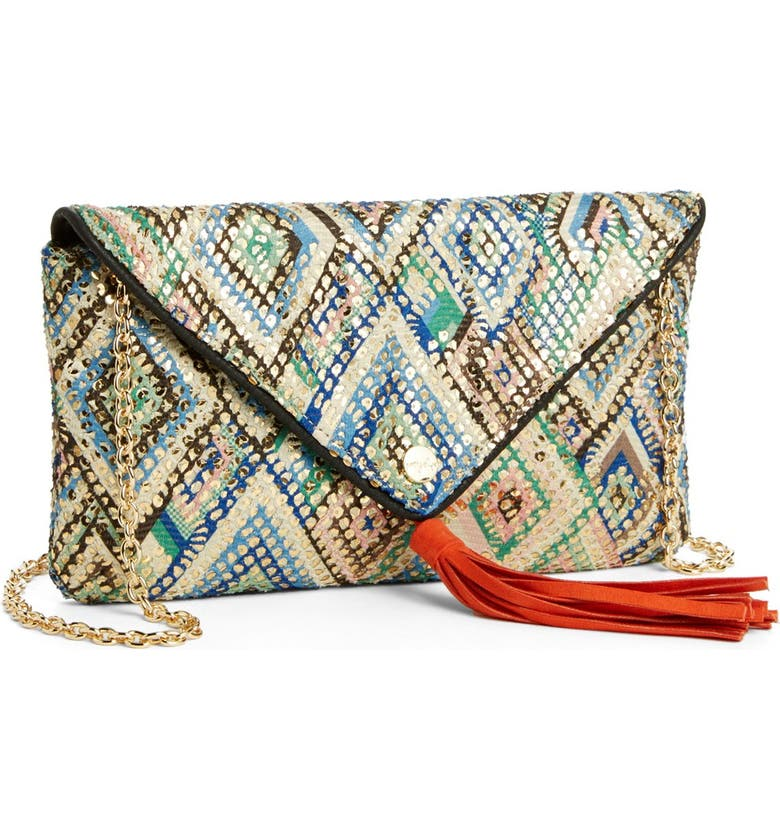 PRETTY SHIPS 'Bahia' Print Clutch, Main, color, 400