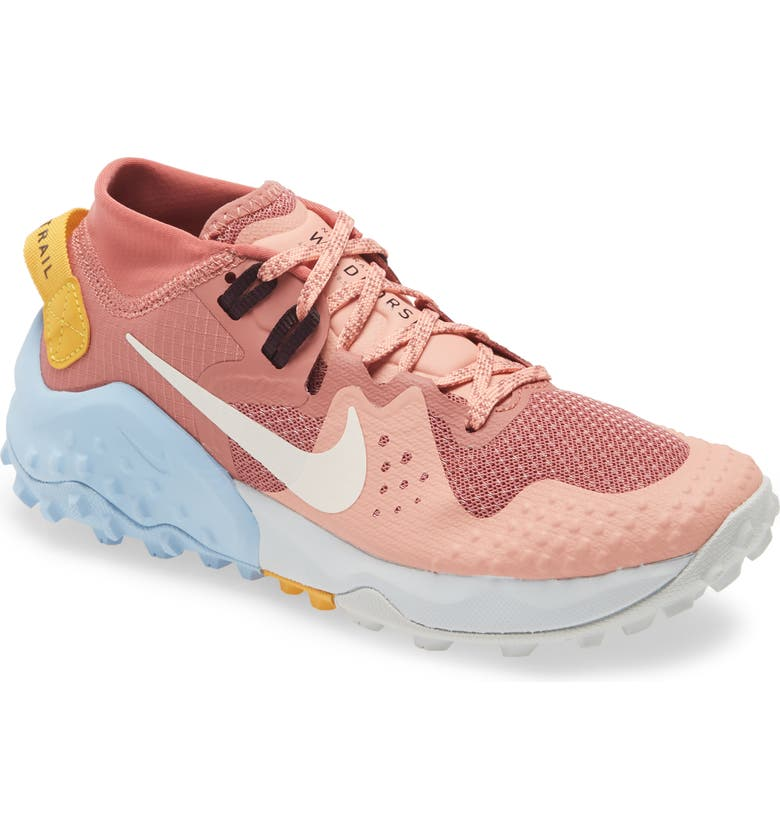 NIKE Wildhorse 6 Trail Running Shoe, Main, color, CANYON PINK/ PALE IVORY/ PINK