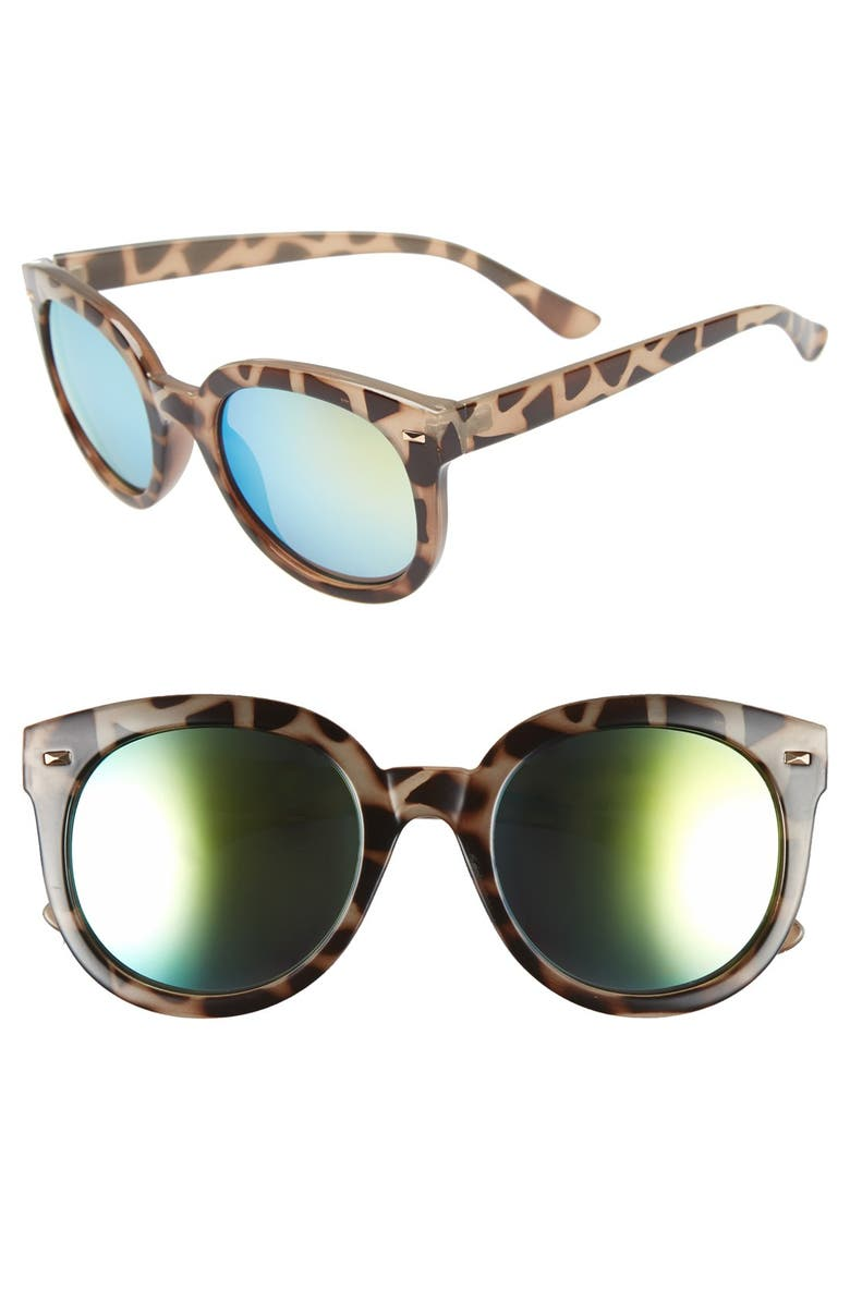 BP. 52mm Oversize Mirrored Sunglasses, Main, color, 310