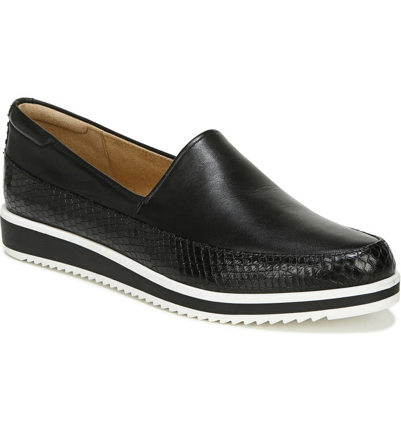 NATURALIZER Beale Flat, Main, color, BLACK LEATHER