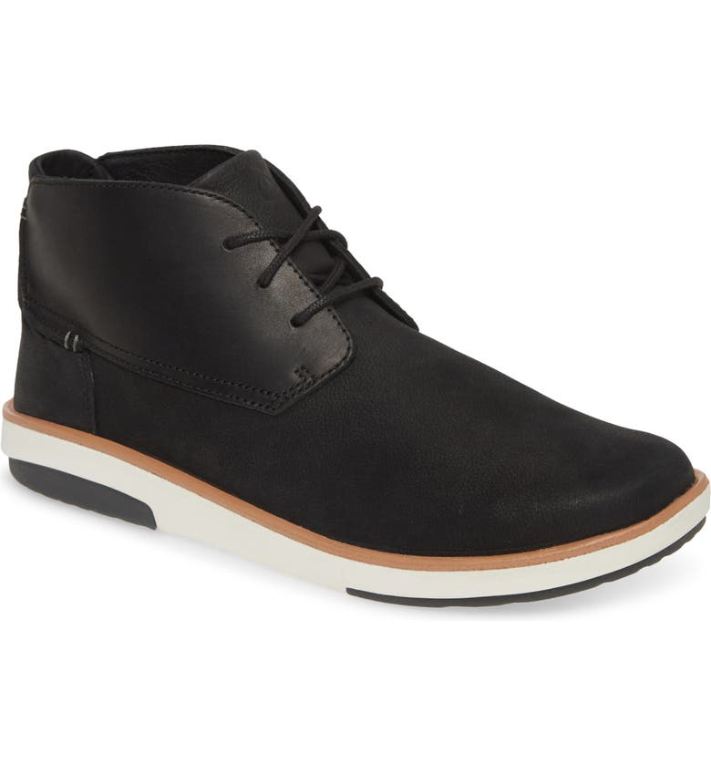OLUKAI Kalia Puki Chukka Boot, Main, color, BLACK/ BLACK
