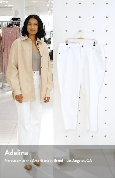 Reese High Waist Fray Hem Ankle Jeans, sales video thumbnail