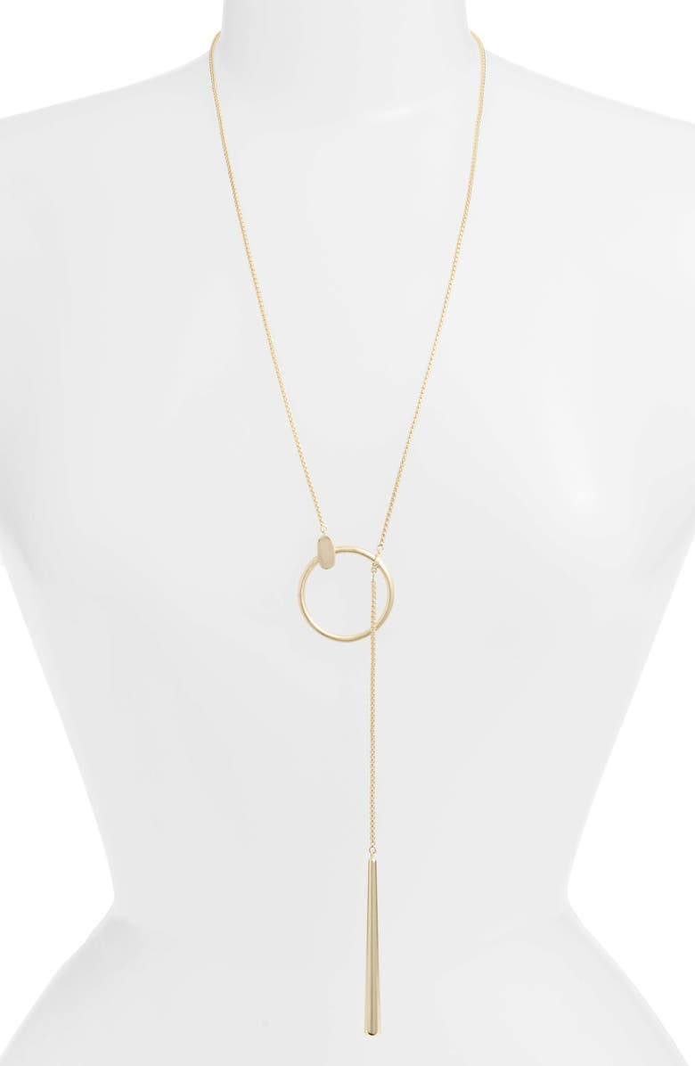 KENDRA SCOTT Tegan Slider Necklace, Main, color, GOLD