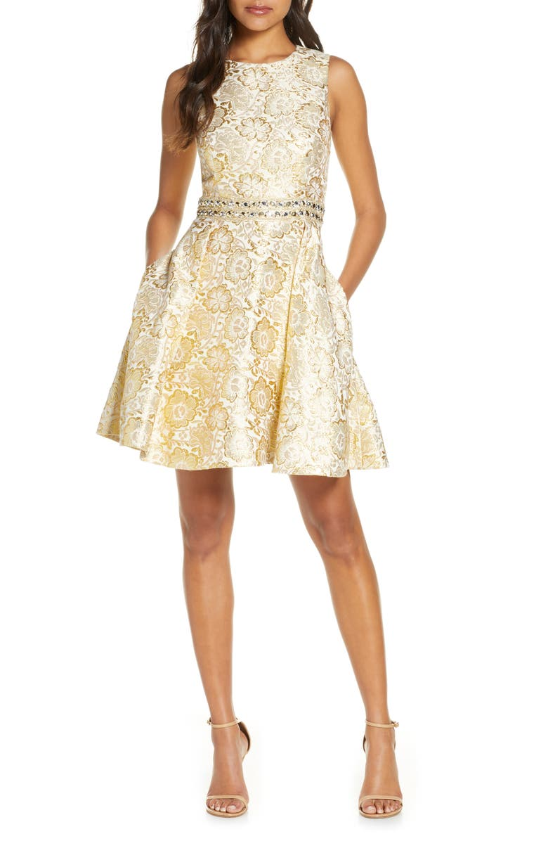 LILLY PULITZER<SUP>®</SUP> Levy Sleeveless Fit & Flare Dress, Main, color, 710