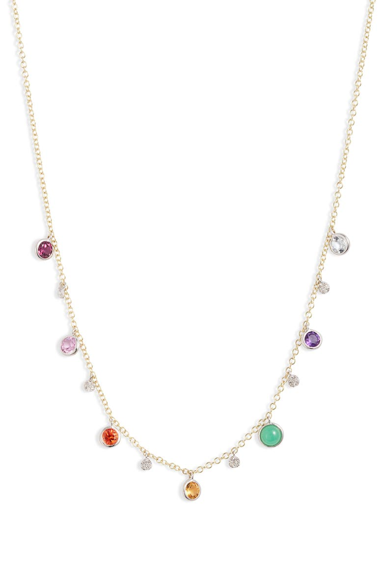 MEIRA T Rain Semiprecious Stone Shaker Necklace, Main, color, 710