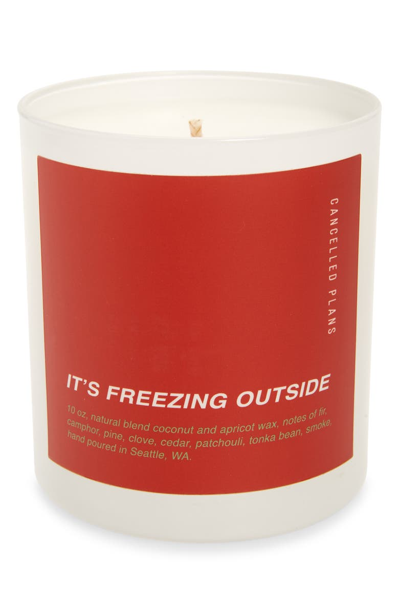 CANCELLED PLANS It's Freezing Outside Candle, Main, color, ITS FREEZING OUTSIDE