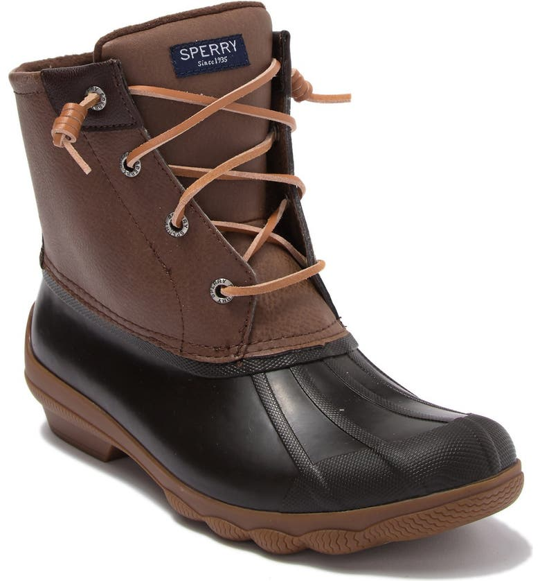 SPERRY TOP-SIDER Syren Gulf Waterproof Lace Up Duck Boot, Main, color, BROWN