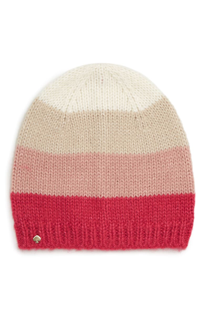 KATE SPADE NEW YORK colorblock beanie, Main, color, 658