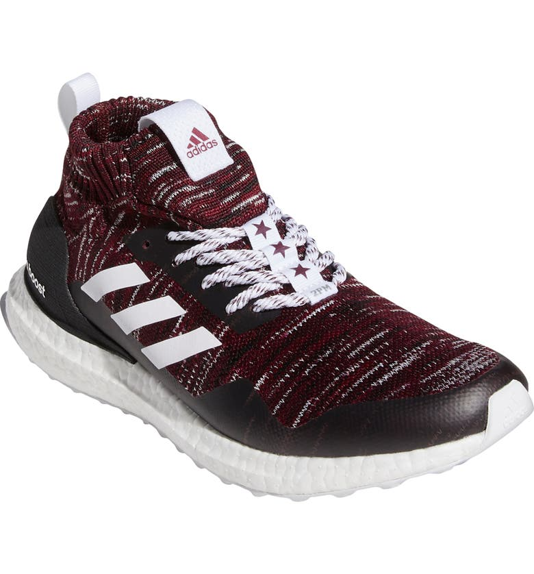 ADIDAS Men's UltraBoost DNA Mid Top Running Shoe, Main, color, MAROON/ WHITE/ BLACK